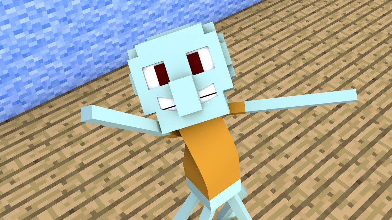 Minecraft Animation  Squidward Tentacles Sings 4 Ply
