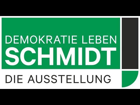 """Online-Preview zur neuen Ausstellung """"Schmidt! Demokratie leben"""""""