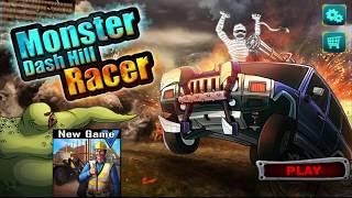 БОЛЬШОЙ ГРУЗОВИК БЕЛАЗ против ЗОМБИ Мультик игра для ДЕТЕЙ Dash hill Racer