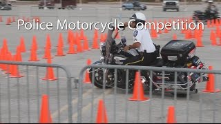 Full Video With Crashes Police BMW And Harley Davidson Motorcycle Competition