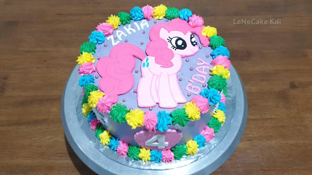 Dekorasi Kue Ultah My Little Pony Kue Ulang Tahun Kuda Poni Cake Warna Warni Lenscake Kdi Youtube