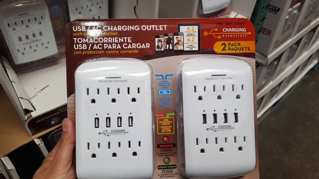 Costco Usb Ac Charging Outlet 2 Pack 15 Youtube