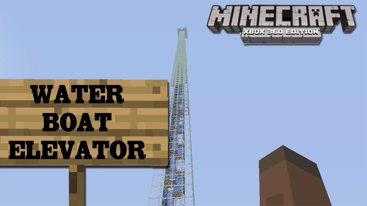how to make an elevator in minecraft pe without water