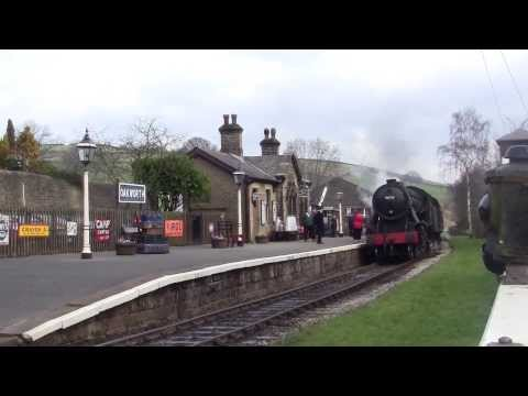Keighley and Worth Valley Railway - Winter Steam Spectacular 2014 - Oakworth Station