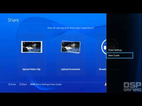 PS4 Tutorials: Sharing Options