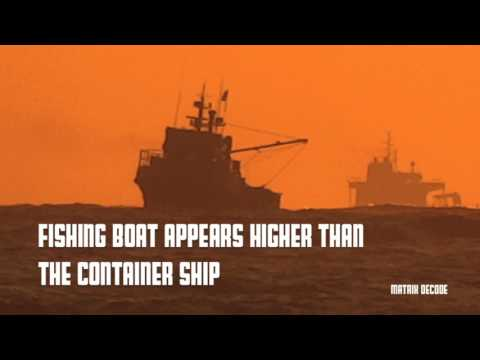 SHIPS OVER THE HORIZON - PART 1 : CONTAINER SHIP (FLAT EARTH)