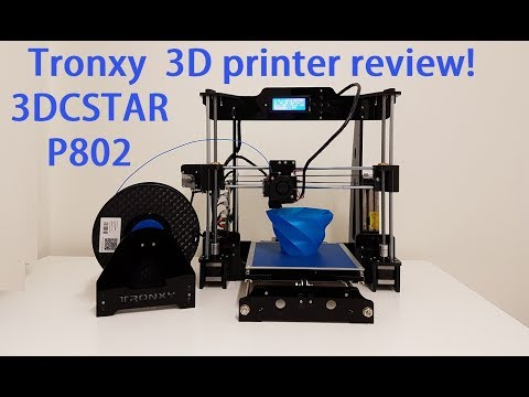 Tronxy 3DCSTAR P802 3D printer build test and review