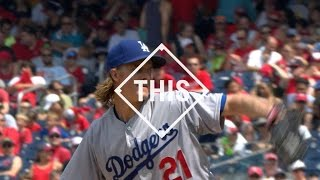 #THIS: Greinke extends scoreless streak vs. Nats(Zack Greinke fans 11 Nationals and extends his scoreless streak to 43 2/3 innings, closing in on Orel Hershiser's record of 59 - #THIS Check out ..., 2015-07-20T03:56:36.000Z)