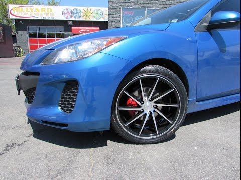 2013 MAZDA 3 WITH CUSTOM 18 INCH RIMS U0026 TIRES