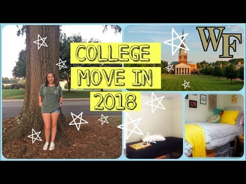 COLLEGE MOVE IN 2018 | WAKE FOREST UNIVERSITY