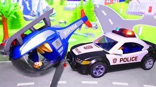 Мультики для мальчиков – Робот-полицейский. Полицейская машинка в видео с игрушками