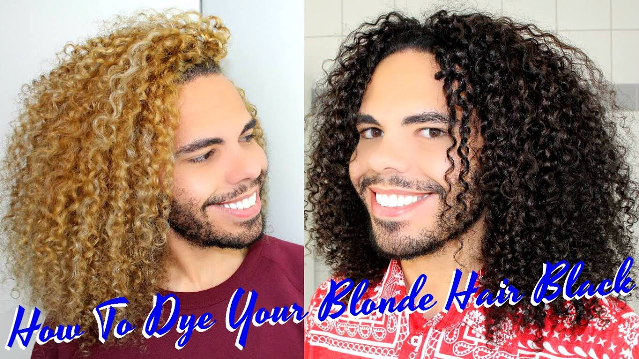 dye color blonde curly
