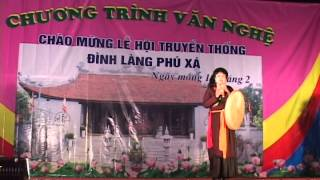 Lễ hội đình làng Phú Xá Phú Thương Tây Hồ Hà Nội, Bé Hằng Nga đại diện TÀINĂNG TRẺ Phát biểu