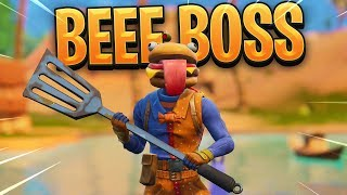 Nouveau Gameplay Fortnite BEEF BOSS SKIN.