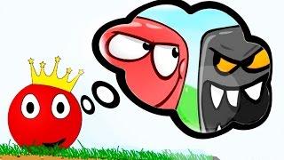 Начинаем приключения красного шарика короля в игре - RED BALL 2. Увлекательное видео для детей.