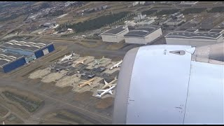 Departing the Airbus Factory Toulouse Blagnac Airport Push Back Taxi and Take Off