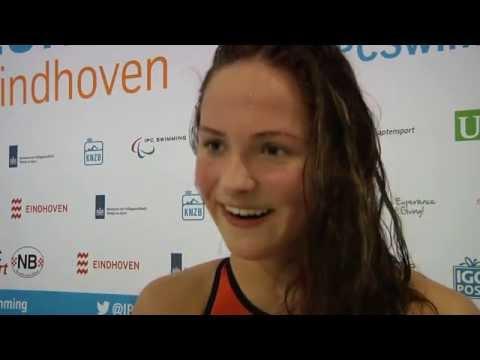 Chantalle Zijderveld Europees kampioen | Paralympisch zwemmen