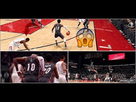 Ty Catching Chris Paul's ankles, CP3 Does Crazy 360 Lay Up| NBA Live 18 The League PG Point Scorer