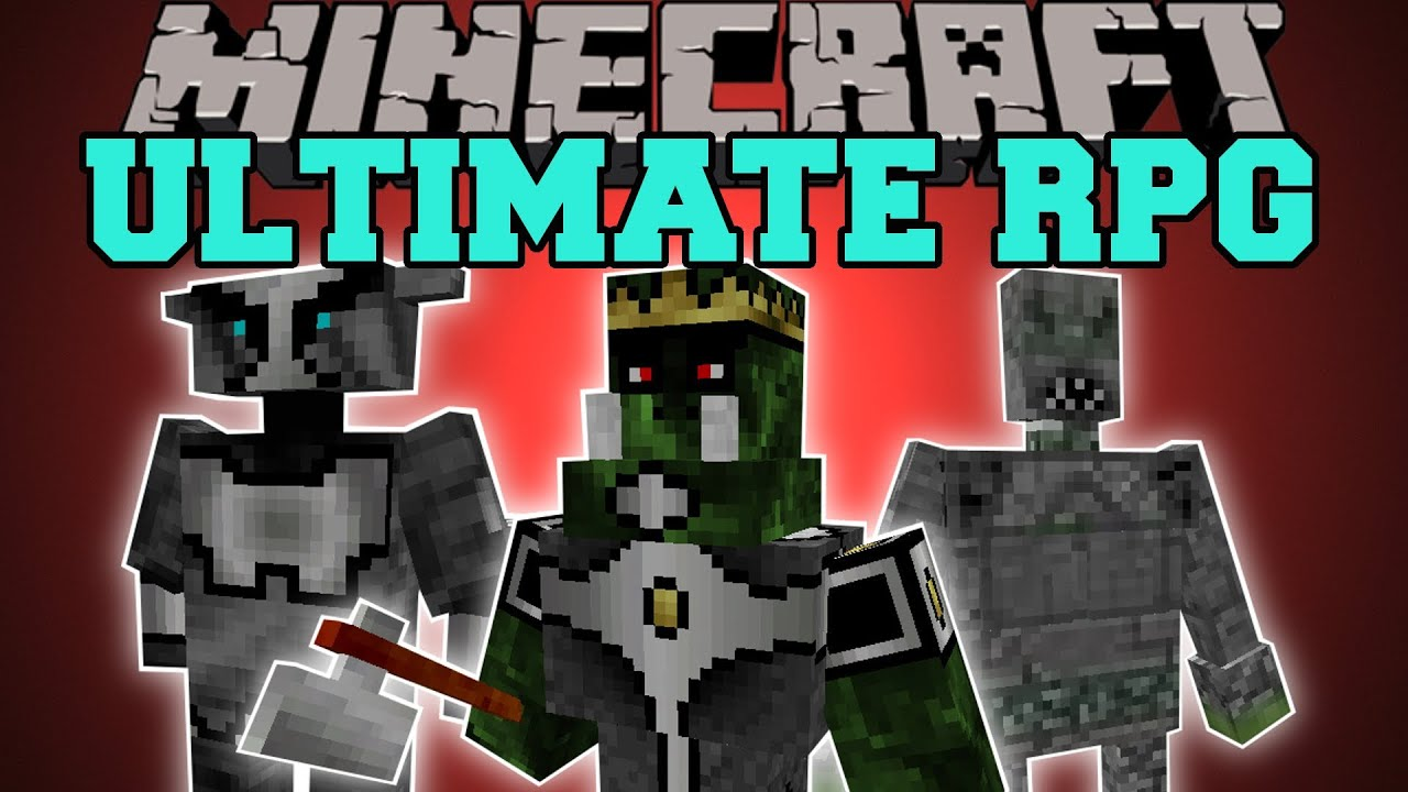 Minecraft : ULTIMATE RPG (CLASSES, BOSSES, ABILITIES, DUNGEONS) Magic  Crusade Mod Showcase