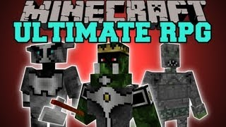 Minecraft : ULTIMATE RPG (CLASSES, BOSSES, ABILITIES, DUNGEONS) Magic Crusade Mod Showcase