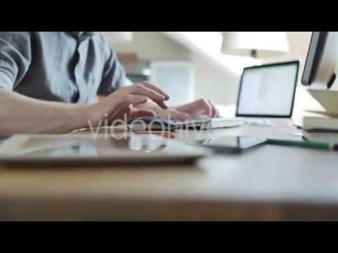 Freelancer Working In Studio (Stock Footage)