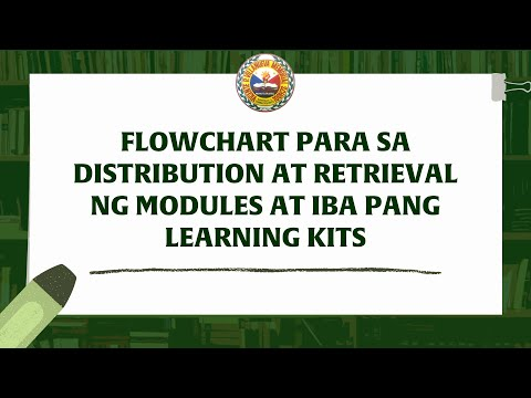 FLOWCHART PARA  DISTRIBUTION AT RETRIEVAL NG MODULES  AT IBA PANG LEARNING KITS - #VPVMS