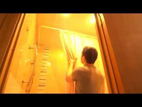 штанга для шторы в ванную угловая 90 150