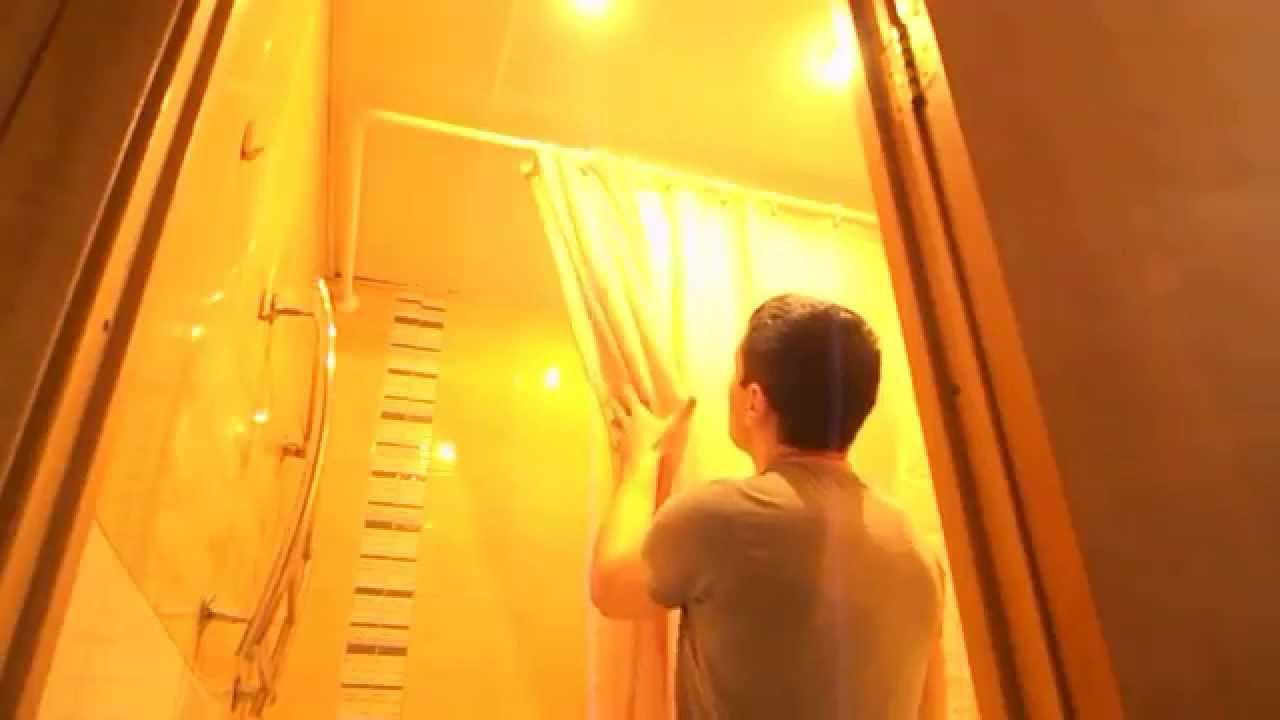 Штанга для шторки в ванной. - YouTube