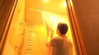 Установка штанги для шторы в ванну VERRAN