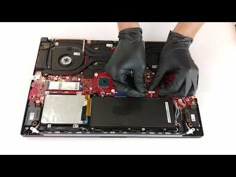 ASUS ROG GL704 SCAR II / Hero II (RTX 2070) - disassembly and upgrade options