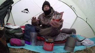 Camping in the Rain- MSR Hubba Hubba, BMF, Arthos, and Coffee