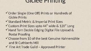 Cheap Fine Art Giclee, Photo & Artwork Printing Services UK