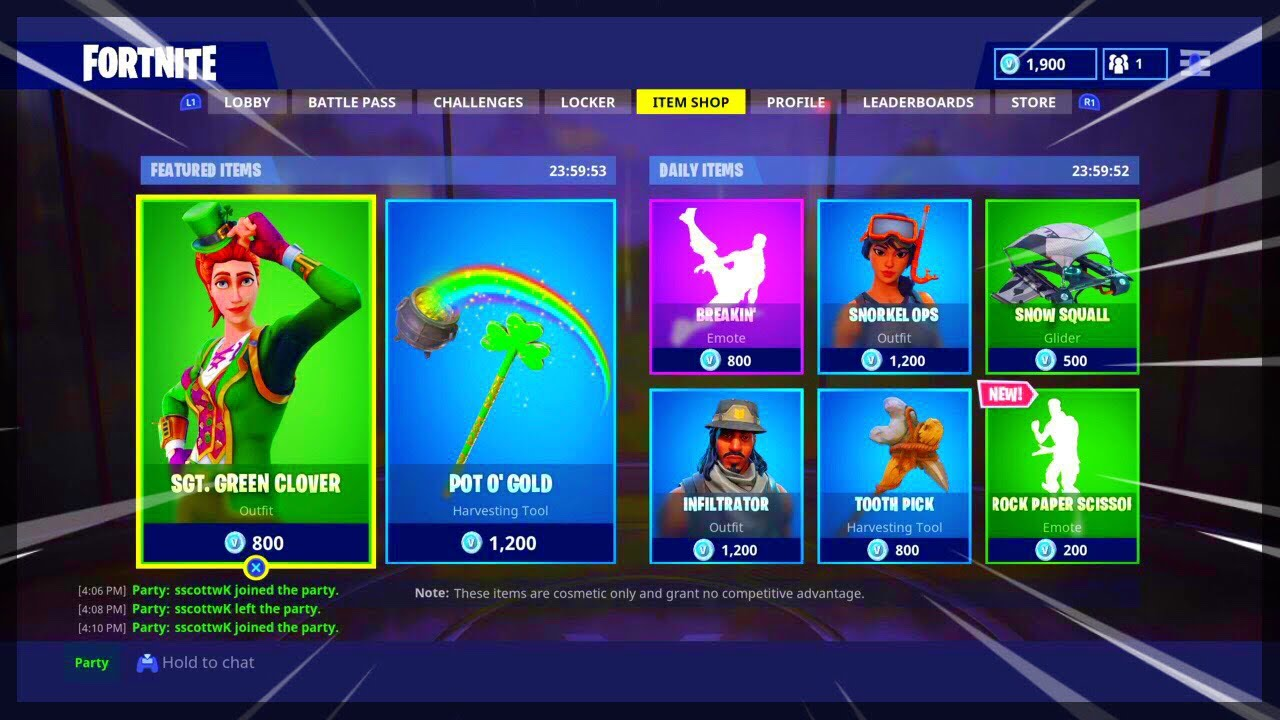 Fortnite ITEM SHOP April 9 2018! NEW Featured items and ...