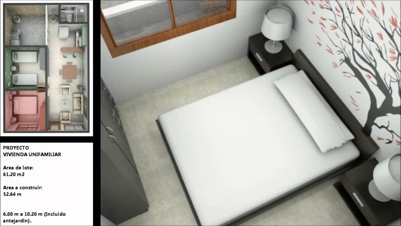 Casa de 6 x 10,20 (50,94 m²) urbanización - YouTube