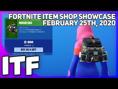 Fortnite Item Shop *NEW* DOGGIE BAG BACK BLING! [February 25th, 2020] (Fortnite Battle Royale)