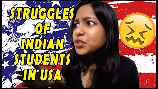 INDIAN STUDENTS IN AMERICA STRUGGLES🙄😨 | INDIAN STUDENTS IN USA | BY OFFICIAL JHALLI