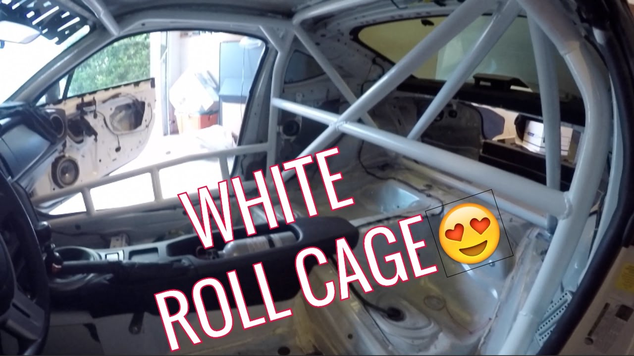 Painting My Roll Cage Scion Frs Youtube