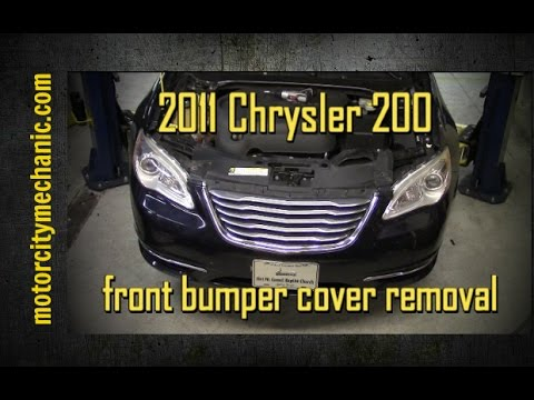 2011 Chrysler 200 front bumper cover removal - YouTube