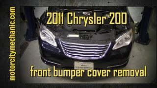 2011 Chrysler 200 front bumper cover removal