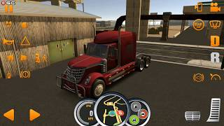 """Truck Simulator USA """"Red Big Truck"""" - MAP Chicago Cargo Gasoline - Android Gameplay FHD #2"""