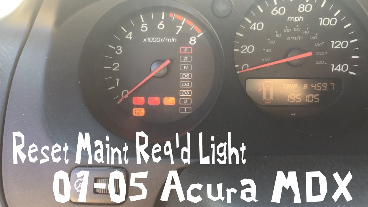 FASTEST VIDEO 2001-2006 Acura MDX How To Reset Maintenance