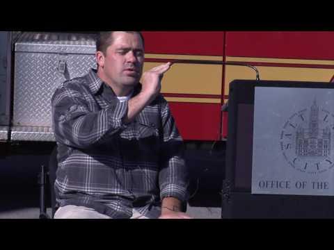 Press Conference: July 8, 2016: Tesero Awards Grant to SLC Fire