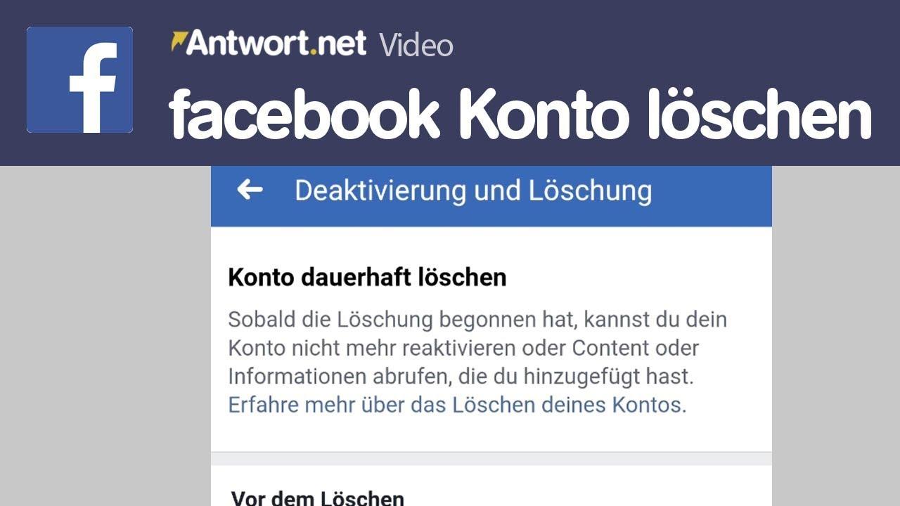 facebook App: Konto löschen und reaktivieren - YouTube