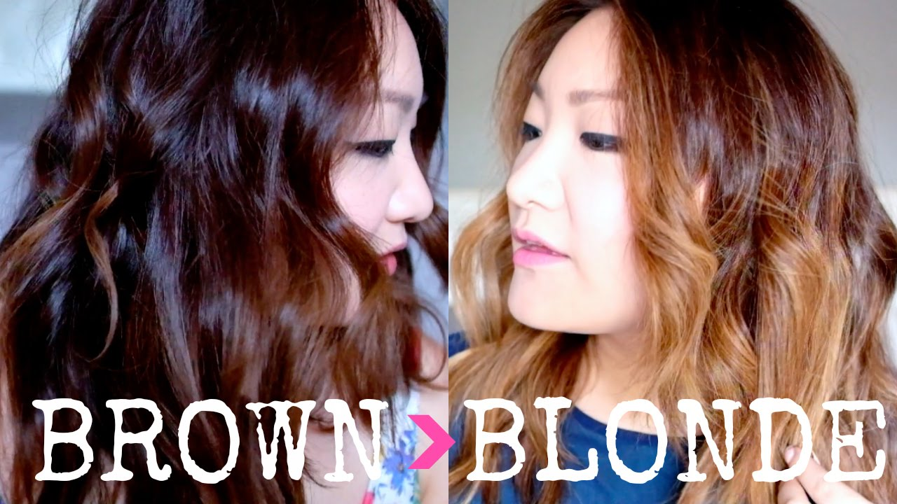 hair diaries coloring my asian brown hair to blonde