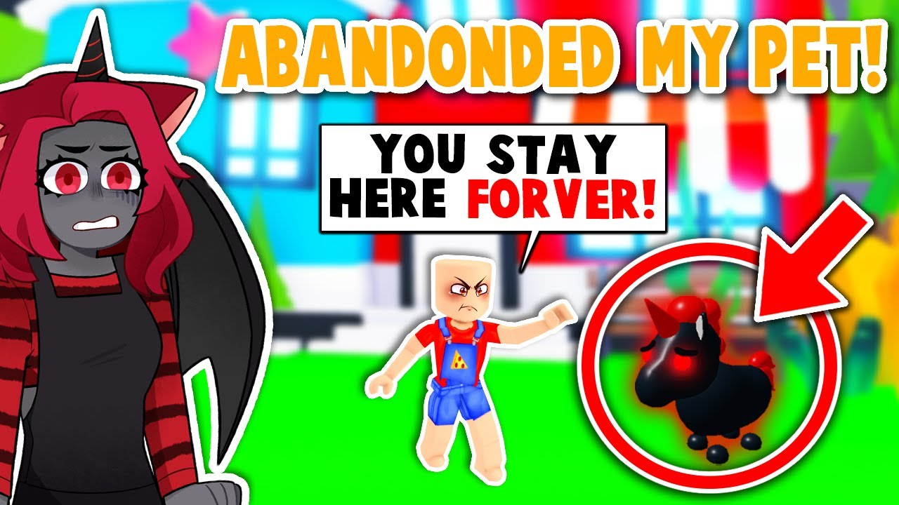 My CHILD Abandoned My PET In Adopt Me! (Roblox)