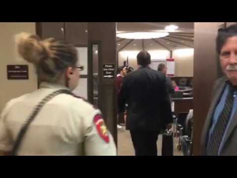 AB arrives in South Texas court related to Child Support hearing