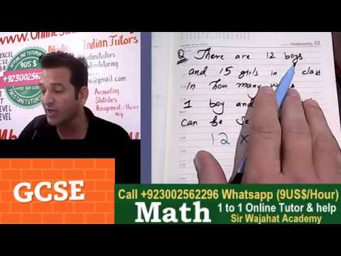 GCSE Topic: The Product Rule For Counting, Online Math Tutor grade 6, 7, 8, 9 in Dubai, USA, Europe