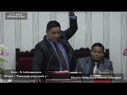 R. Lungmuana - Thlarau ah awm rawh u || Sermon Thar