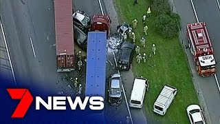Miracle escapes from one of the worst pile-ups on the Monash Freeway