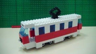 як зробити лего трамвай